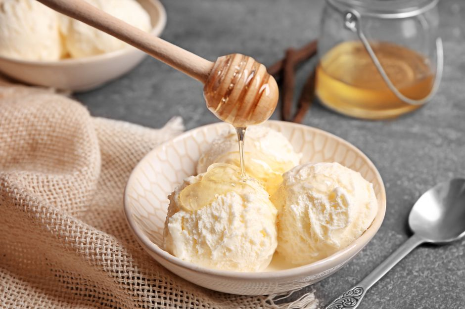 vanilleeis mit honig